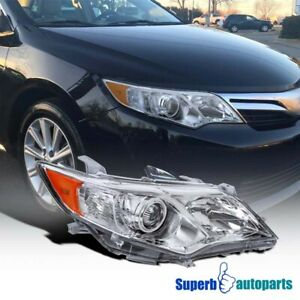 For 2012 2014 Toyota Camry Clear Passenger Right Side Projector Headlight Lamp