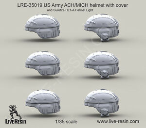 Live Resin 35019 135 US Army ACHMICH Helmet with Cover (1)
