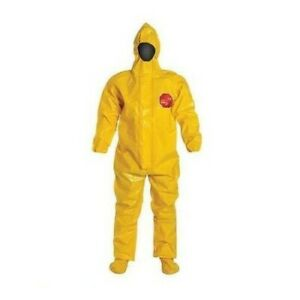 X2 Dupont Tychem Br Coverall Size Large Br128tyllg000200 Protective Suit