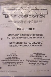 Mi t m Operating Instructions For Hot Water Pressure Washers In English spanish