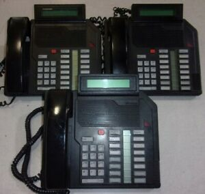 Lot Of 3 northern Telecom Meridian M2616 Nt9k16ac03 Business Phones See Notes