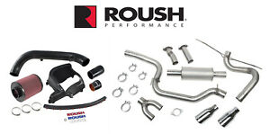 2013 2018 Ford Focus St Roush Cat Back Exhaust Cold Air Engine Intake Kit