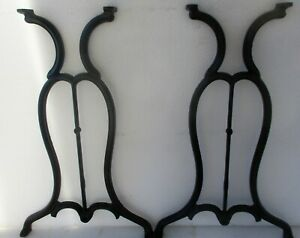 Gothic Style Antique Cast Iron Sewing Machine Industrial Table Legs 28 High