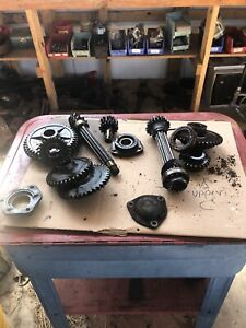 Farmall C Sc Tractor Ih Main Transmission Upper And Lower Gears And Shafts Used