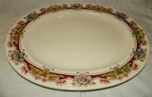 Brown Westhead Moore Co Floral Transferware 17 Platter England Antique Free Shp
