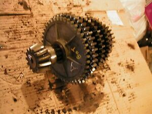 Farmall A Tractor Ih Main Drive Transmission Bottom Drive Gears Gear Shaft