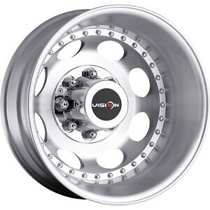 19 5x6 75 Machined Vision Hauler Dually Wheels 8x170 143 Lifted Ford Excursion