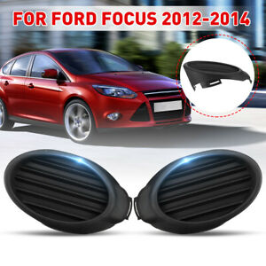 Pair Front Bumper Fog Lamp Cover Vent Grille Bezel For Ford Focus 2012 2013 2014
