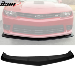 Fits 14 15 Chevy Camaro Ss Ac S Style Front Bumper Lip Spoiler Matte Black Abs