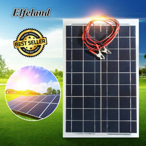 30w 12v Semi Flexible Solar Panel Battery Charger Cable For Rv Boat Motorhome