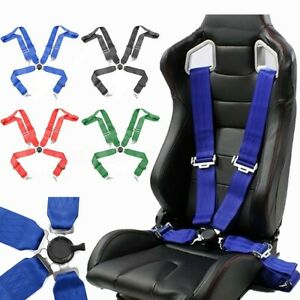 3 4 Point Racing Style Harness Safety Seat Belt 4pt Camlock Quick Release