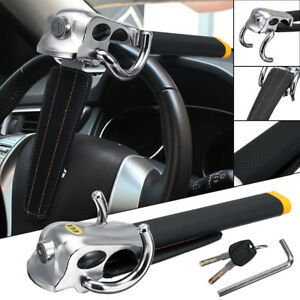 Car Foldable Anti Theft Steering Wheel Security Lock Safe Device Top Mount