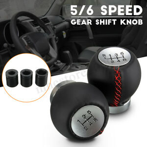 Leather 5 6 Speed Manual Car Gear Shift Knob Shifter Stick Lever For Toyota Trd
