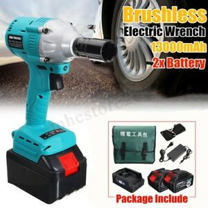 108vf Electric Cordless Impact Wrench High Torque Drill With 2x 13000mah Battery