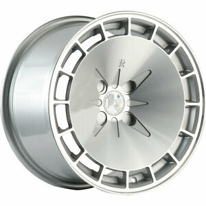 16x8 Silver Klutch Km16 Wheels 4x4 5 15 Fits Ford Mustang 4 Lug Only