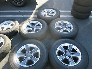 Five 201 Jeep Wrangler Jk Factory 18 Wheels Tires Oem Rims Rubicon 6bz41trmaa