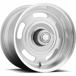 15x7 Silver Bg Rod Works Rally Wheels 5x4 75 5x5 0 Fits Buick Special