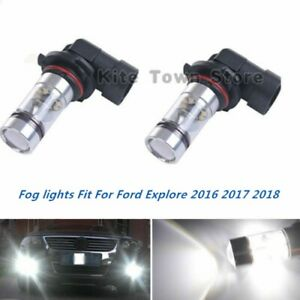 100w Fog Lights For Toyota Camry 2002 2003 2004 2005 2006 6000k White Led Bulb