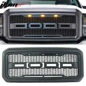 Fits 11 16 Ford F250 F350 New Raptor Style Front Bumper Grille Hood Package Abs