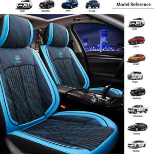 Blue Universal Auto Car Seat Cover Set Pad Cushion Protector Bucket Bench Pillow