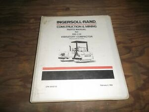 Ingersoll Rand Dd 110 Vibratory Compactor Smooth Drum Roller Part Catalog Manual
