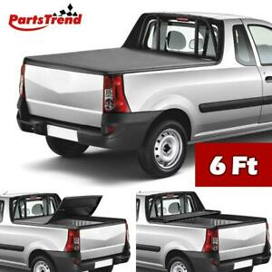 Soft Tri fold Tonneau Cover Truck Bed Cover For 2005 2018 Nissan Frontier 6 Bed