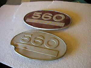 Farmall 560 Tractor Original Ih Front Side Oval Emblems
