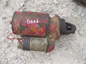 Farmall 560 460 Rowcrop Tractor Ih Ihc Good Working 12v Engine Starter Assembly