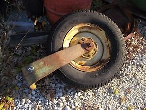 John Deere 70 Tractor Single Front End Frontend Wheel Tire Rim Yoke Hard To Find