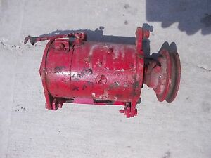 Farmall Ih M H Hv M Tractor Good Working 6v Generator Belt Pulley Regulator