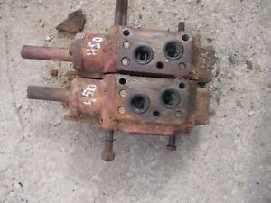 Farmall 400 450 D Tractor Ih Hydraulic Control Valve 2 Blocks Behind Dash Bolts