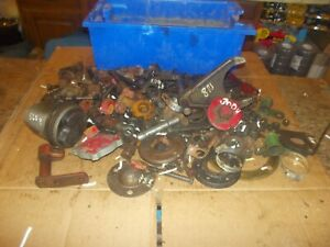 Farmall Ih Ford Jd Allis Tractor Ac Box Misc Bolts Nuts Parts Pieces Springs