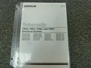 Caterpillar Cat Th62 Th63 Th82 Th83 Telehandler Electrical Wiring Diagram Manual