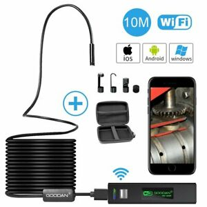 Wireless Inspection Camera 1200p Hd Wifi Endoscope Borescope With 2 0 Megapixels