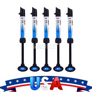 Us 5x Dx Dental Syringe Universal Composite Light Curing Resin Refill Shade A1
