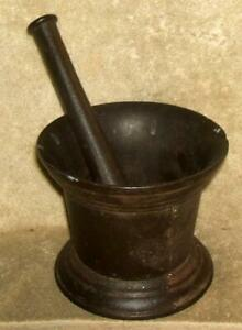 1800 S Cast Iron Mortar And Pestle