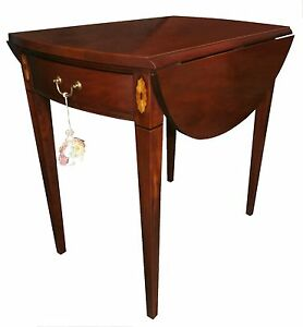 English Georgian Style Pembroke Table Hickory Historic James River Collection