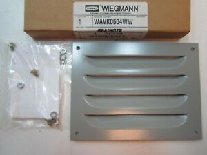 Wiegmann Wavk0604 Louver Plate Kit 5 63 X 7 50 Frame With Mounting Hardware New
