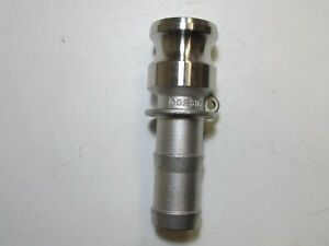 250 Psi Type E Stainless Steel 1 Male Adapter X 1 Hose Shank Camlock Adapter