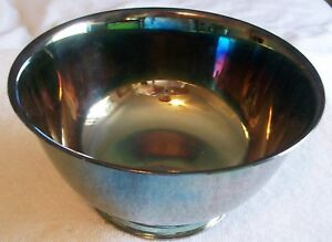 Vintage Silver Plate By Michael C Fina 6 Paul Revere Reproduction Style Bowl