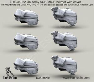 Live Resin 35022 135 US Army ACHMICH Helmet with Cover (4)