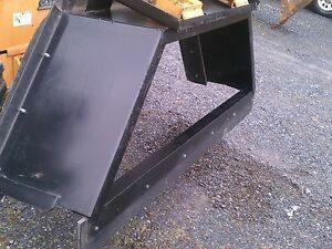 New 8 96 Skid Steer Loader Manure Box Blade Scraper snow Pusher Tractor Bobcat