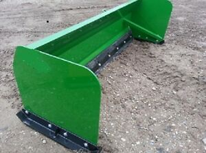 New 72 6 Snow Box Pusher Plow Blade For John Deere Tractor Also Skid Steer Moun