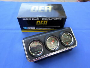New 1967 Camaro Firebird F Body Console Gauge Cluster Oer Gm Licensed
