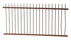 Civil War Era Pencil Point Wrought Iron Fence