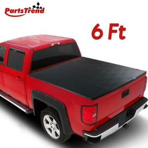 For 2016 2019 Toyota Tacoma 6 72 Bed Blk Vinyl Assembly Tri Fold Tonneau Cover
