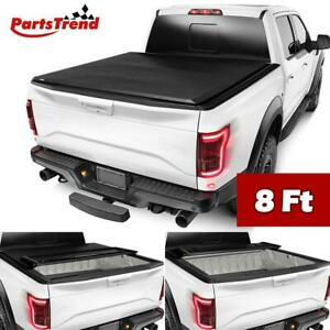For 15 18 Ford F150 8ft 96in Bed Vinyl Tri fold Tonneau Cover Truck Bed Cover