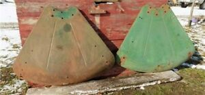 John Deere Fenders Agricultural Tractor Farm Machinery Parts Vintage Garage
