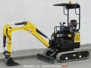 2017 Carter Ct16 9d Mini Excavator Aux Hyd Extendable Tracks Perkins Blade New