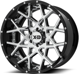 1 New 20x12 Et 44 Xd Series Xd203 Chopstix Chrome Wheel 8x180 00 8x180